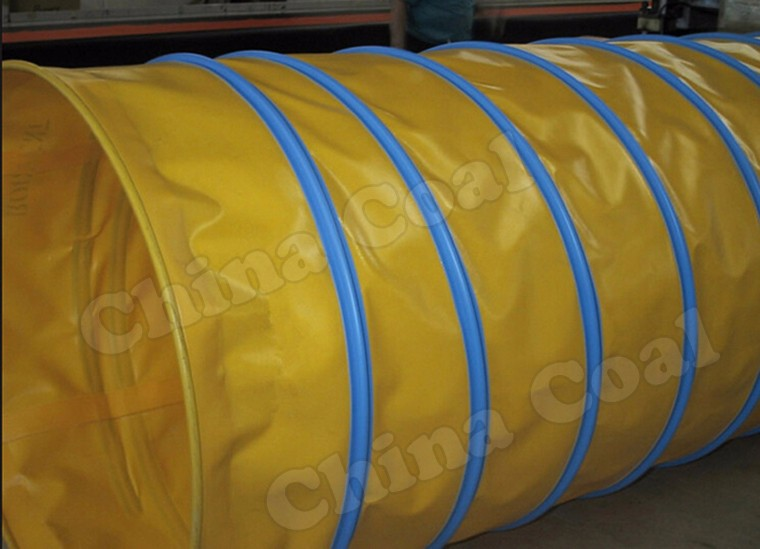 Mining Tunnel Collapsible Ventilation Air Duct/Ventilation Fan For Use