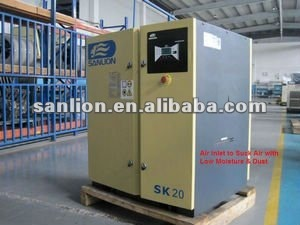 sanlion 20HP/15KW 10bar oil injected twin screw air compressor