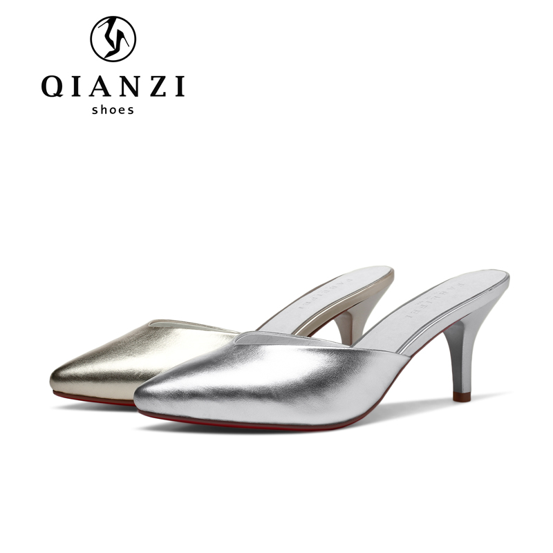 L046 Latest design latest gold and silver sandals slipper and shoes for women and girls
