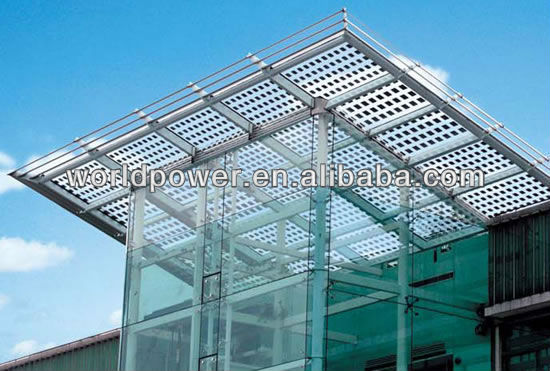 2018 NEW High Quality Transparent Solar Panel BIPV Solar Roof Tile