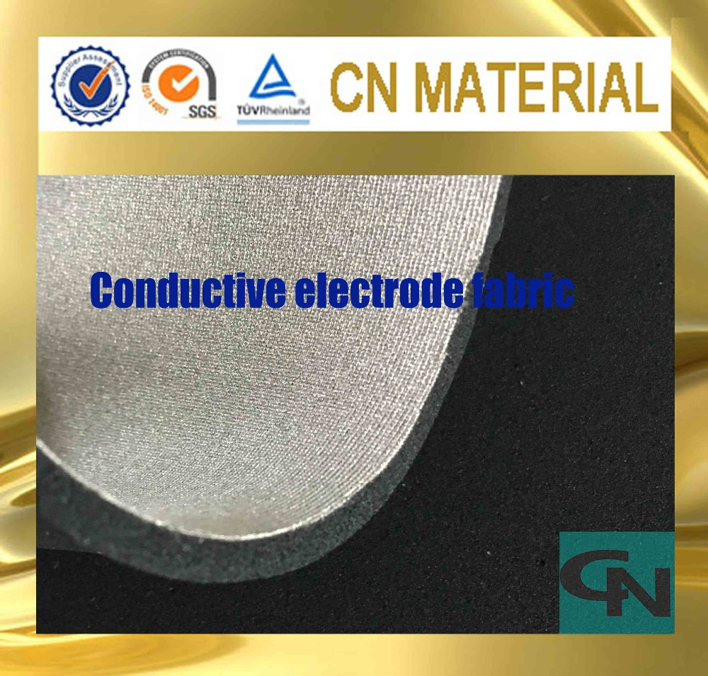 four way stretchable silver fiber conductive electrode pad fabric