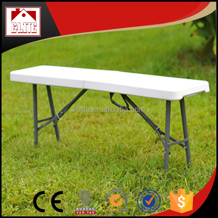 Wholesale portable folding patio plastic bench chair