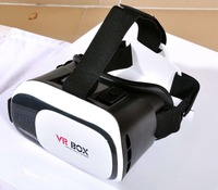 2016 HD VR BOX 2.0 Virtual Reality Glasses 3D VR Headsets Helmet with Bluetooth Remote Controller