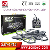 New Arrival Sky Cruiser HM1314 EPP Foam RC aerocraft rc plane with LED 2.4 Ghz 4CH 6 axis Gyroscope Giant Aircraft Carrier
