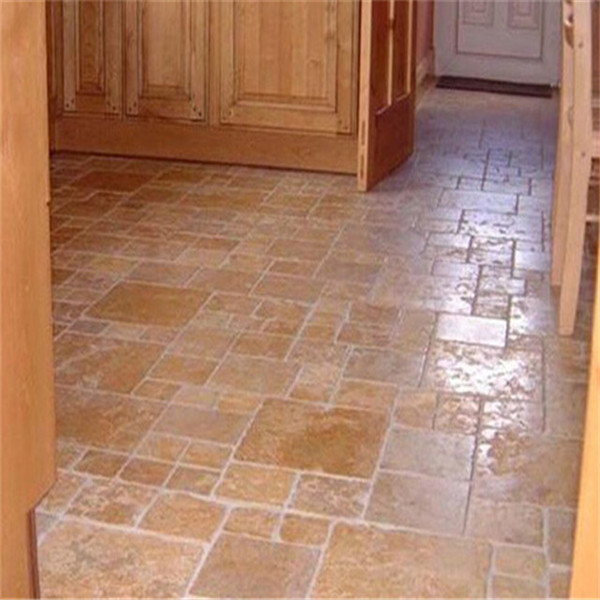 Classic tumbled travertine french pattern