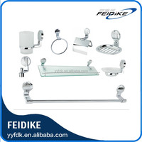 Feidike elegant and fashion 7800 series bathroom accessory set, zinc alloy chrome finish bathroom accessory set