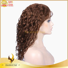 Factory 8 Inch Virgin Indian Hair Beyonce Style 100% Hand-tied Full Lace Human Hair Wigs