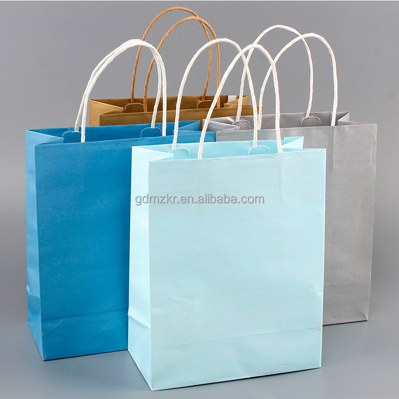 custom printed famous brand name logo machines price kraft paper bag with handle