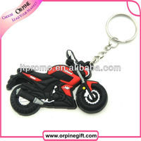 Promotional soft rubber keychains motorcycle