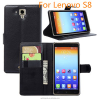 free sample China Suppliers fip PU Leather Wallet cell Phone Case For Lenovo S8