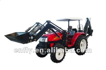 dealer tractor 40hp 4WD with front loader, backhoe, farm equipment