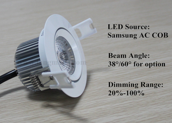 driverless samsung 6w mini low power 220V new cob led downlight