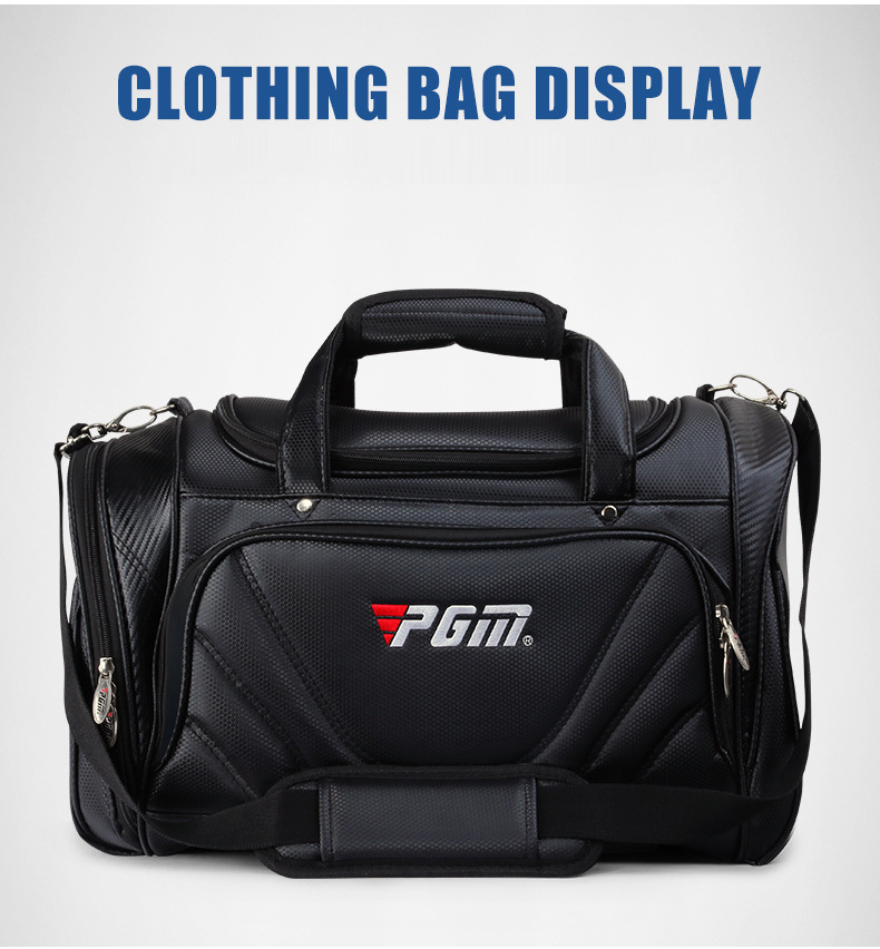 PGM black color pu leather golf waterproof tote bag