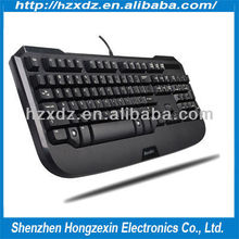 High quality auto game keyboard CP waterproof usb keyboard