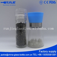 RJ Ce Certified Black Chili Turkish Manual Glass Industrial Cheap Pepper Grinder Mechanism Mill In Best Bottle Wholesale