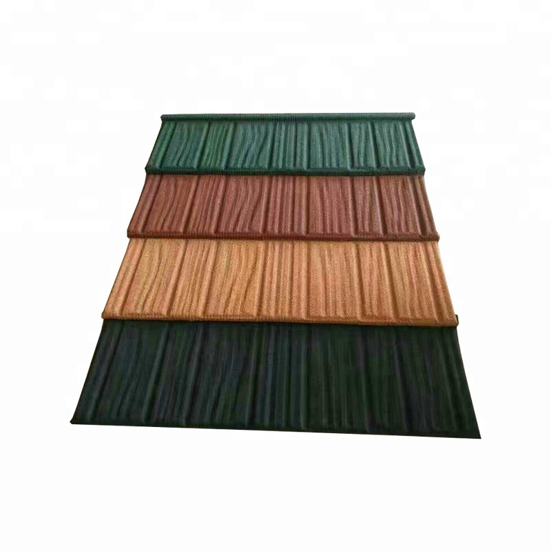 Rock Metal Color Alu Zinc Stone Chip Coated Steel Roof Tiles