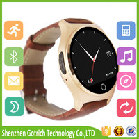 manufacturer MTK2502 leather smart watch diamond wristwatch with best price