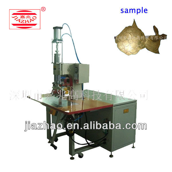 High frequency leather label embossing machine