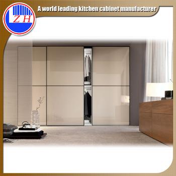 Free Standing Wardrobe Cabinet Closet Sliding Door Design, Bedroom Cabinet  With Mirror