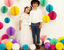 Happy Birthday Theme decoration round tissue paper honeycomb balls For decoration