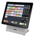 "White POS 15"" for payment system retails bars touch screens capative all in one"