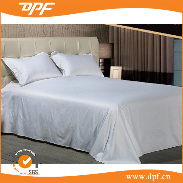 Wholesale white plain flying hem flat sheet with washable pillow cases