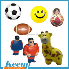 Promotional any shape Customized cheap PU stress ball/anti stress relievers