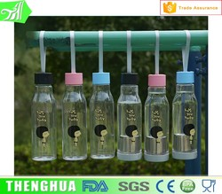 Leak Proof Plastic Bottle Easy Open Cap With Stainless Steel Infuser