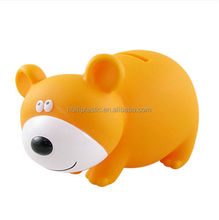 Custom pvc novelty piggy banks,custom vinyl paintable piggy bank,pvc vinyl white piggy bank
