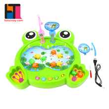 novelty items frog design plastic intelligent battery operated fishing game toys for kids