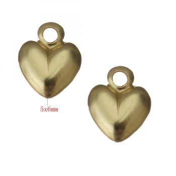 679911 big hole 1mm Gold Filled Pendant Heart 14K jewelry