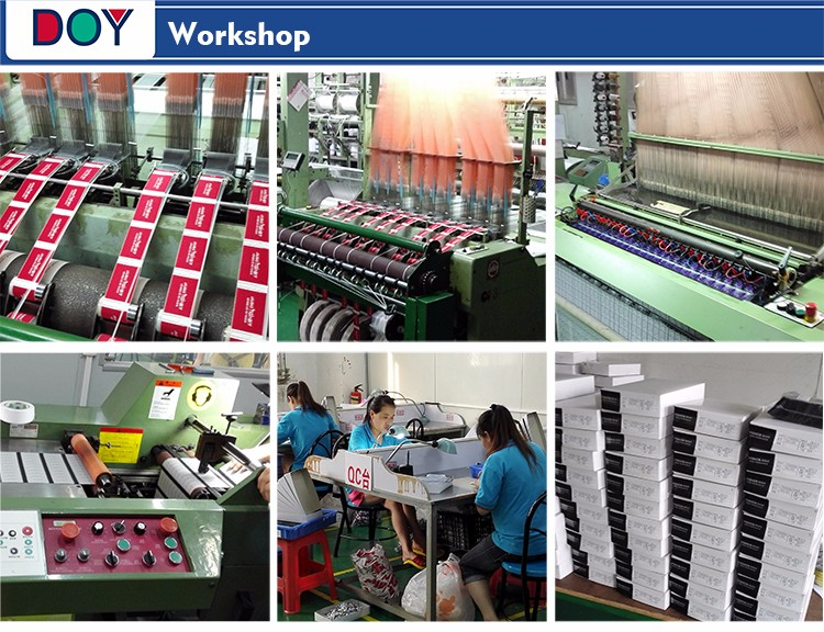 Wholesale High Density Custom Brand Name Logo Sew on Centerfold Machine Woven Garment Fashion Labels