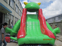 Lanqu Outdoor frog theme slide inflatables combos