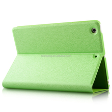 Unbreakable Silk Texture Pu Leather Smart Case for Ipad Mini, Folio Stand Cover Case for Ipad Mini123