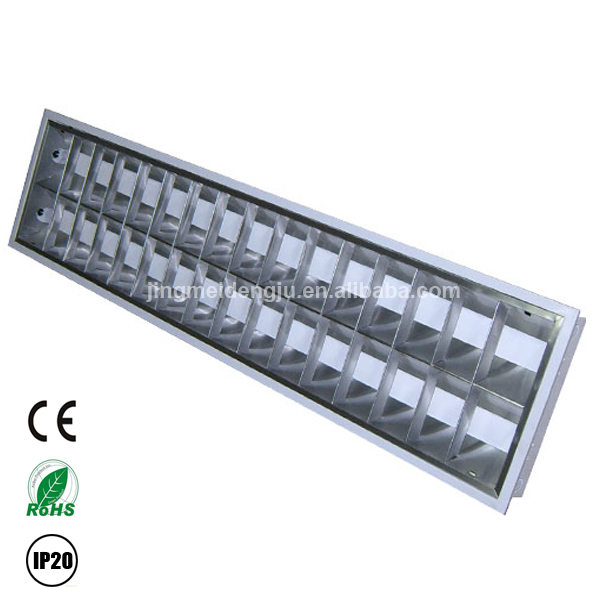 ceiling or surface 2x36w fluorescent light fixture louver