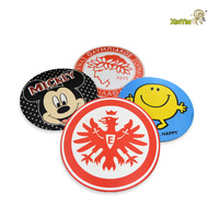 New design promotional custom silicone pvc tea cup coaster