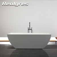 Composite 1500mm Artificial Stone Freestanding Bathtub