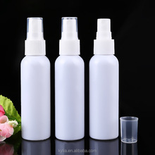 120ml white plastic pet bottle with mist spray pump