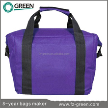 Purple Effect zero degrees inner cool insulated lunch cooler bag in tote