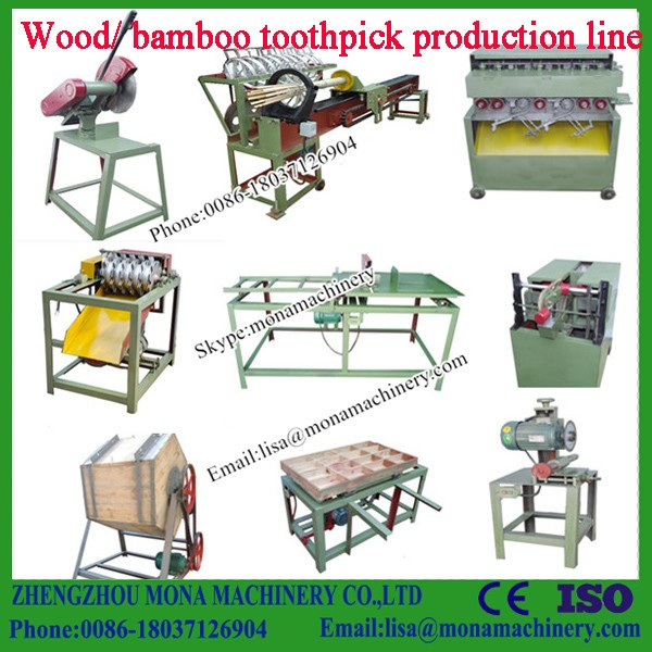 Easy operation chopsticks/toothpicks processing machine with best service