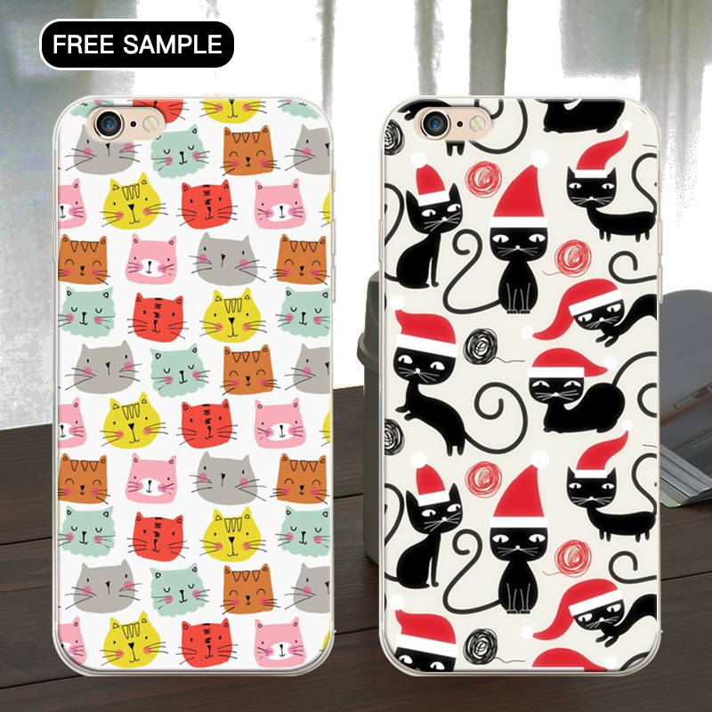 Free sample wallpaper cat pattern phone case for iphone 5 5s se for iphone phone case wholesale for iphone 5 custom back cover