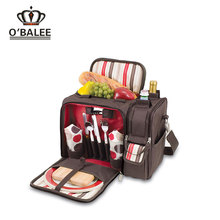 2017 top quality waterproof 600D polyester food wine insulated picnic bag with tools