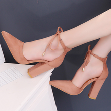 KS0057A Hot selling graceful beauty high heel lace-up shoes pointed ladies heel shoes