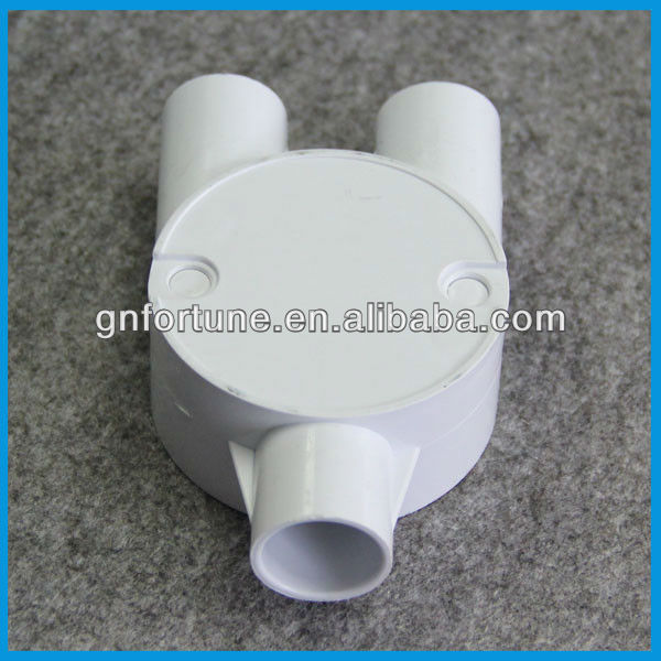 White Electrical Conduit Fittings 20mm PVC Male Bush