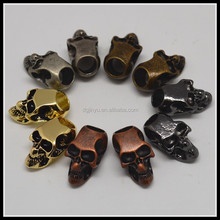 New Handmade Decorative Horrible Metal Mini Skull Head/Metal Skull Beads for Necklace and Bracelets