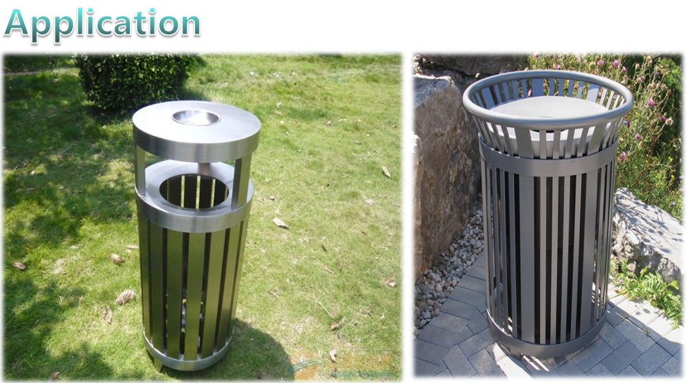 hot sale industrial galvanized stainless steel trash and garbage bin,waste bin