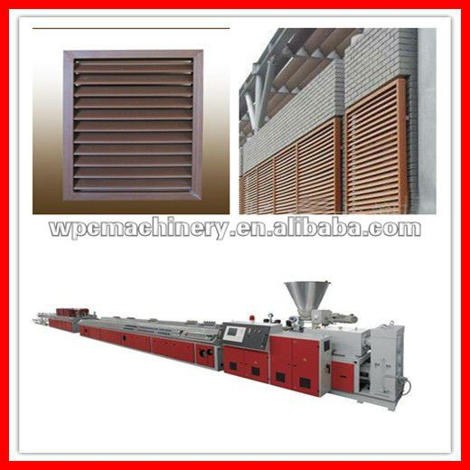 wood plastic window blind machinery