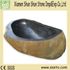 Natural brown granite stone bath tub for home