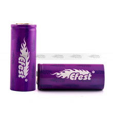 Purple Efest 26650 battery 45A 5000mah efest imr 26650 cell VS green efest 26650 4200mah