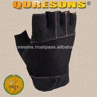 weight lifting gym workout bodybuilding fitness training heavy duty gym gloves full black low price gloves